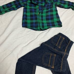 Carter's Matching Sets - Carters 12m plaid outfit